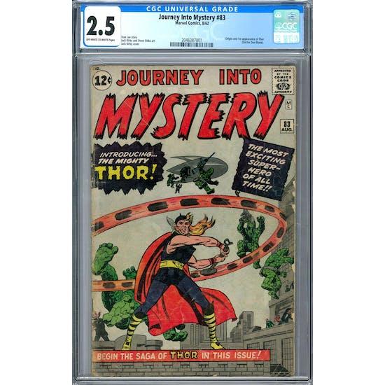 Journey Into Mystery #83 CGC 2.5 (OW-W) *2046087001*