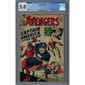 Avengers #4 CGC 5.0 (OW) *2046280011*
