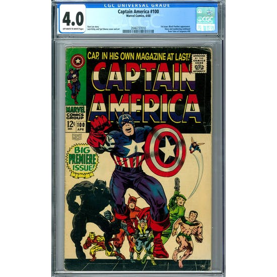 Captain America #100 CGC 4.0 (OW-W) *2046737010*
