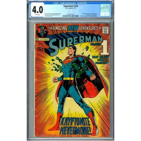 Superman #233 CGC 4.0 (W) *2046737016*