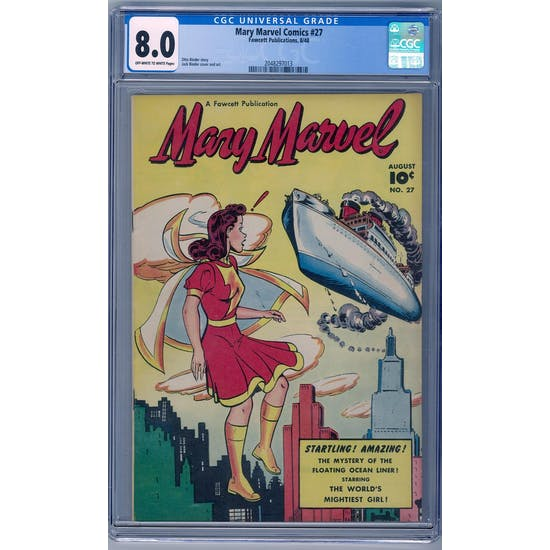 Mary Marvel Comics #27 CGC 8.0 (OW-W) *2048297013*