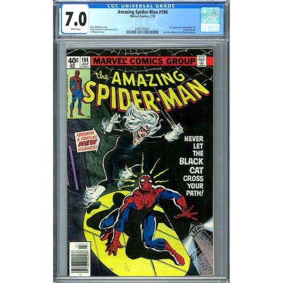 Amazing Spider-Man #194 CGC 7.0 (W) *2049742001*