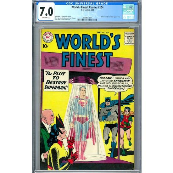 World's Finest Comics #104 CGC 7.0 (OW) *2049931001*
