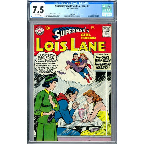 Superman's Girlfriend Lois Lane #7 CGC 7.5 (OW) *2049931002*