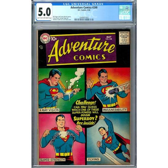 Adventure Comics #248 CGC 5.0 (LT-OW) *2049931003*