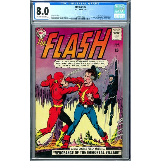Flash #137 CGC 8.0 (OW-W) *2049931020*
