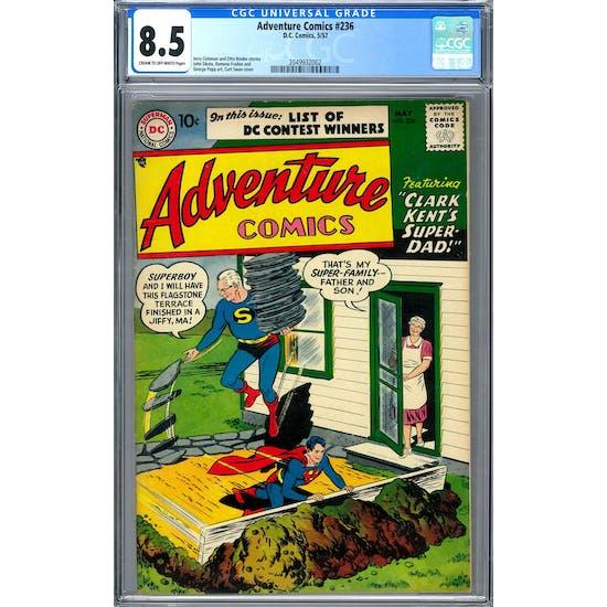 Adventure Comics #236 CGC 8.5 (C-OW) *2049932002*