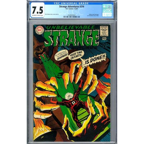 Strange Adventures #216 CGC 7.5 (OW-W) *2049932007*