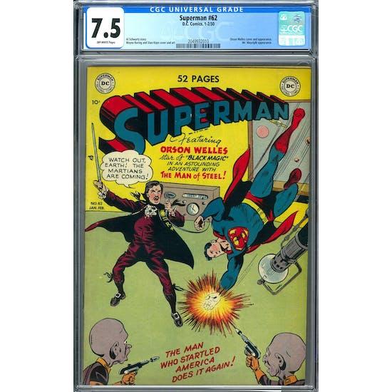 Superman #62 CGC 7.5 (OW) *2049932010*