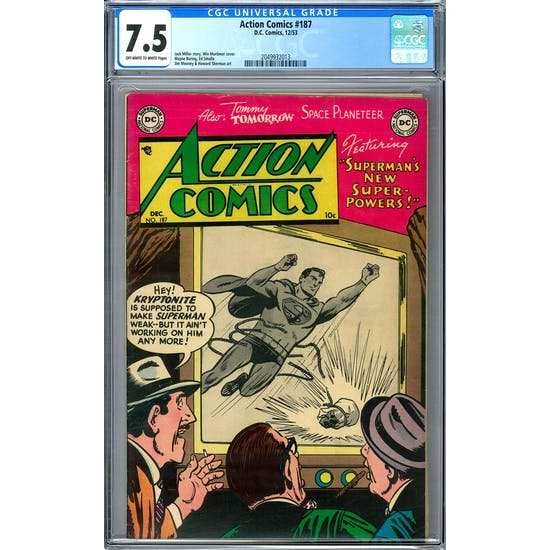 Action Comics #187 CGC 7.5 (OW-W) *2049932013*