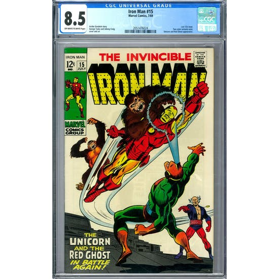 Iron Man #15 CGC 8.5 (OW-W) *2051476024*