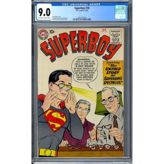 Superboy #70 CGC 9.0 (OW-W) *2051477002*