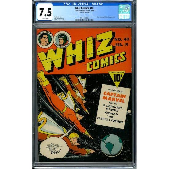 Whiz Comics #40 CGC 7.5 (W) *2051477006*