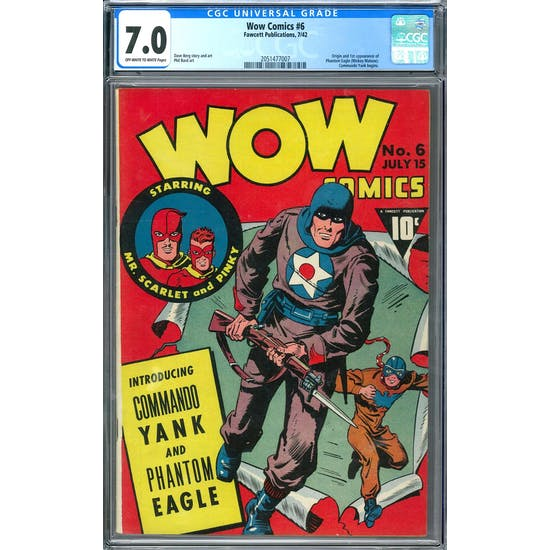 Wow Comics #6 CGC 7.0 (OW-W) *2051477007*