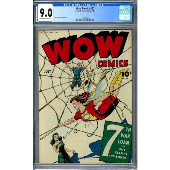 Wow Comics #37 CGC 9.0 (OW-W) *2051477009*