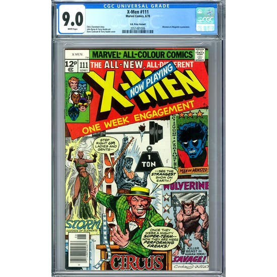 X-Men #111 U.K. Price Variant CGC 9.0 (W) *2051481006*