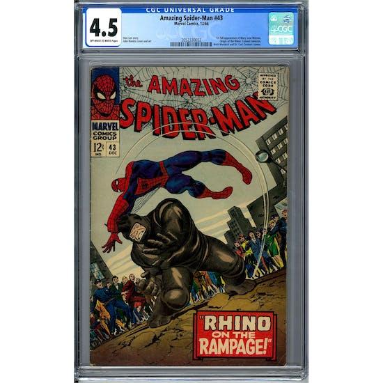 Amazing Spider-Man #43 CGC 4.5 (OW-W) *2052330022*