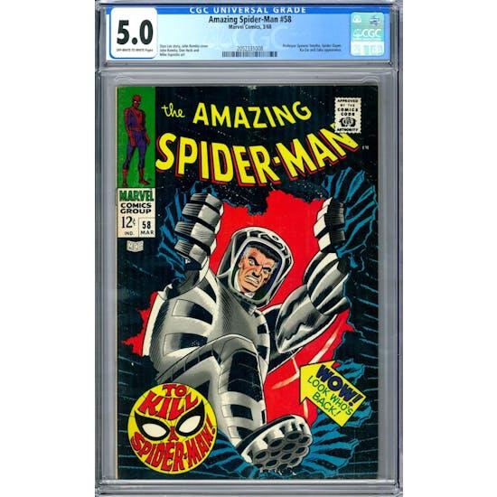 Amazing Spider-Man #58 CGC 5.0 (OW-W) *2052331008*