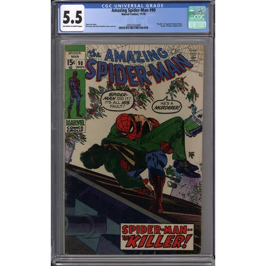Amazing Spider-Man #90 CGC 5.5 (OW-W) *2052332009*