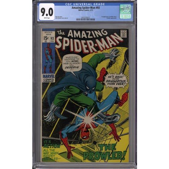 Amazing Spider-Man #93 CGC 9.0 (W) *2052332012*