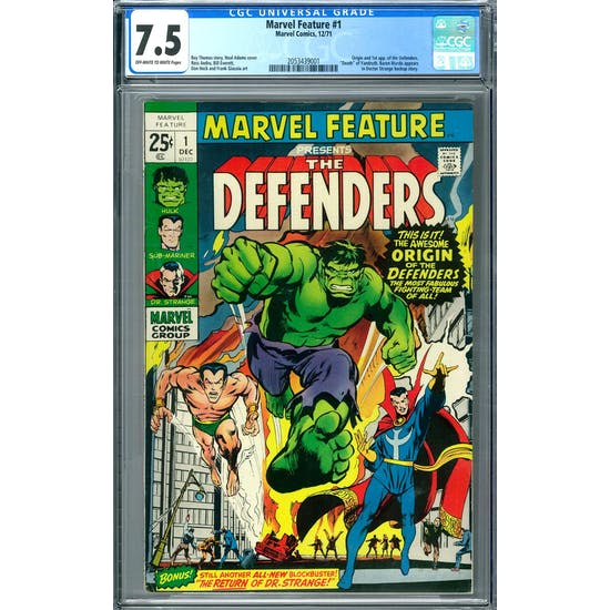 Marvel Feature #1 CGC 7.5 (OW-W) *2053439001*