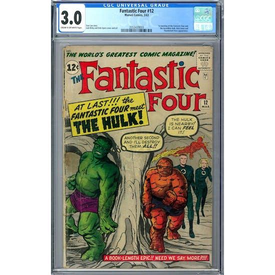 Fantastic Four #12 CGC 3.0 (C-OW) *2053439003*