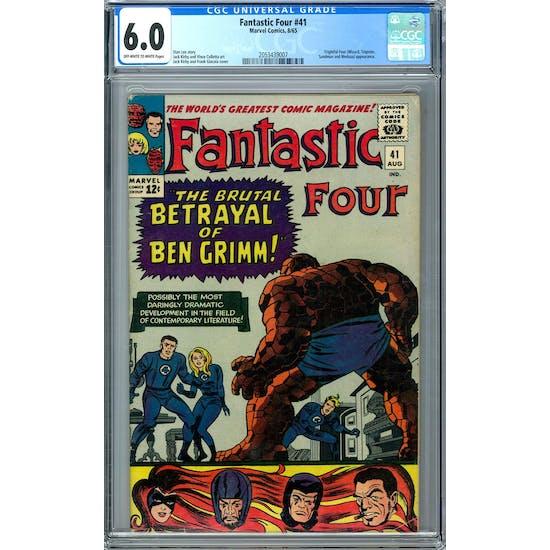 Fantastic Four #41 CGC 6.0 (OW-W) *2053439007*