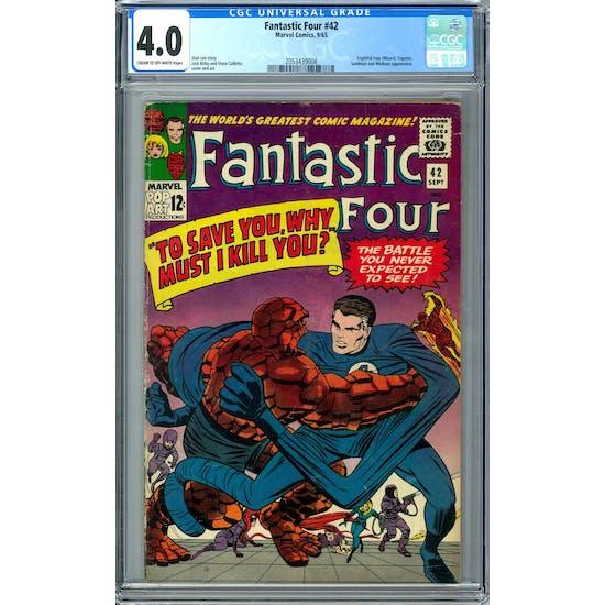 Fantastic Four #42 CGC 4.0 (C-OW) *2053439008*