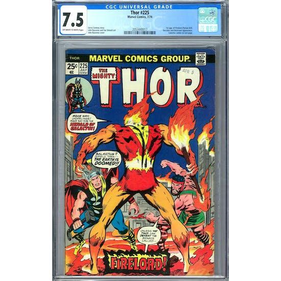 Thor #225 CGC 7.5 (OW-W) *2053440017*