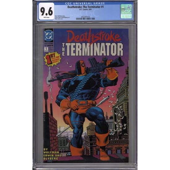 Deathstroke: The Terminator #1 CGC 9.6 (W) *2053441010*