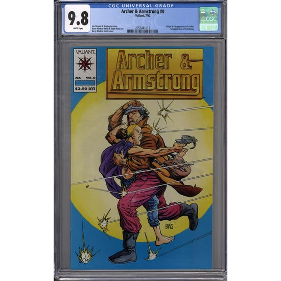 Archer & Armstrong #0 CGC 9.8 (W) *2053441011*