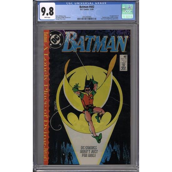 Batman #442 CGC 9.8 (W) *2053442005*