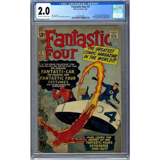 Fantastic Four #3 CGC 2.0 (C-OW) *2053443001*