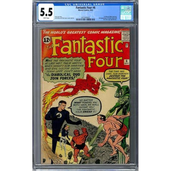 Fantastic Four #6 CGC 5.5 (W) *2053443002*
