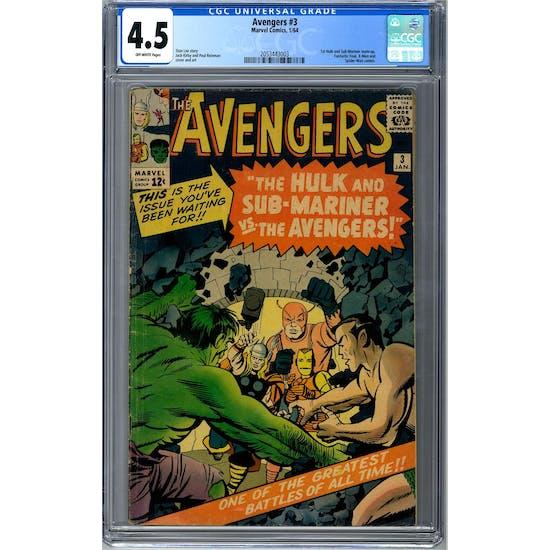Avengers #3 CGC 4.5 (OW) *2053443003*