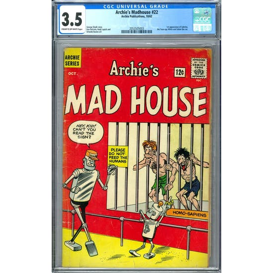 Archie's Madhouse #22 CGC 3.5 (C-OW) *2053505003*