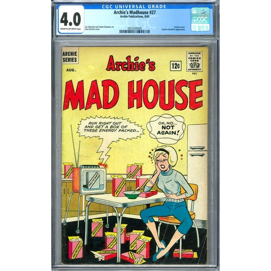 Archie's Madhouse #27 CGC 4.0 (C-OW) *2053505005*