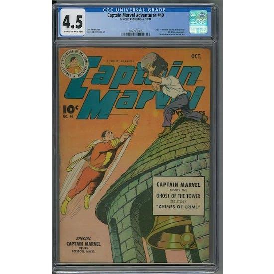 Captain Marvel Adventures #40 CGC 4.5 (C-OW) *2053989006*