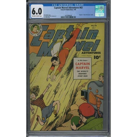 Captain Marvel Adventures #63 CGC 6.0 (OW-W) *2053989009*