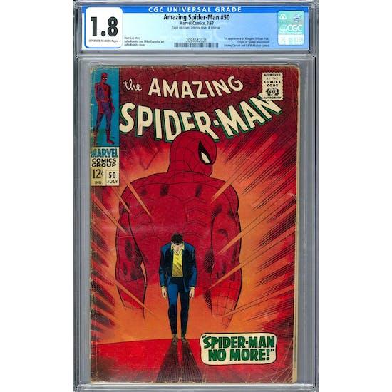 Amazing Spider-Man #50 CGC 1.8 (OW-W) *2054042021*