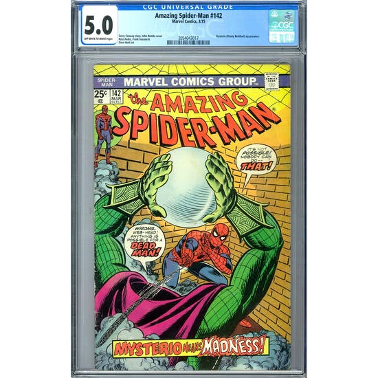 Amazing Spider-Man #142 CGC 5.0 (OW-W) *2054043017*
