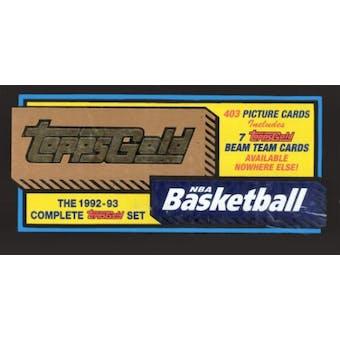 1992/93 Topps Basketball Gold Factory Set