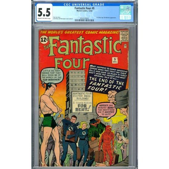 Fantastic Four #9 CGC 5.5 (C-OW) *2054324002*