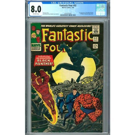 Fantastic Four #52 CGC 8.0 (OW) *2054327005*