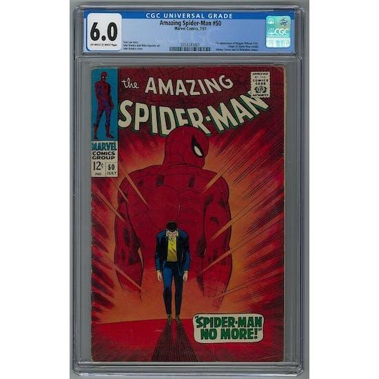 Amazing Spider-Man #50 CGC 6.0 (OW-W) *2054343001*