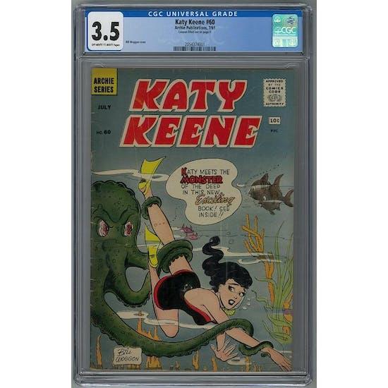 Katy Keene #60 CGC 3.5 (OW-W) *2054374001*