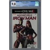 Invincible Iron Man #7 CGC 9.8 (W) *2054375004*