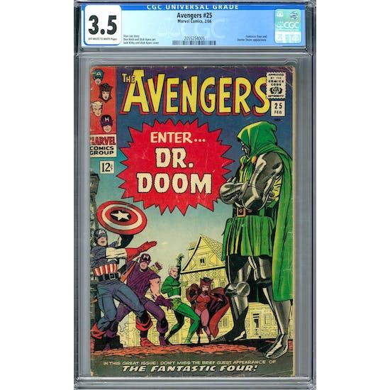 Avengers #25 CGC 3.5 (OW-W) *2055254005*