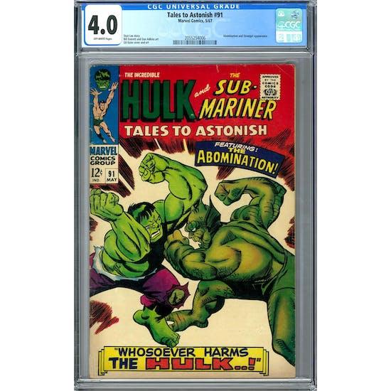 Tales to Astonish #91 CGC 4.0 (OW) *2055254006*