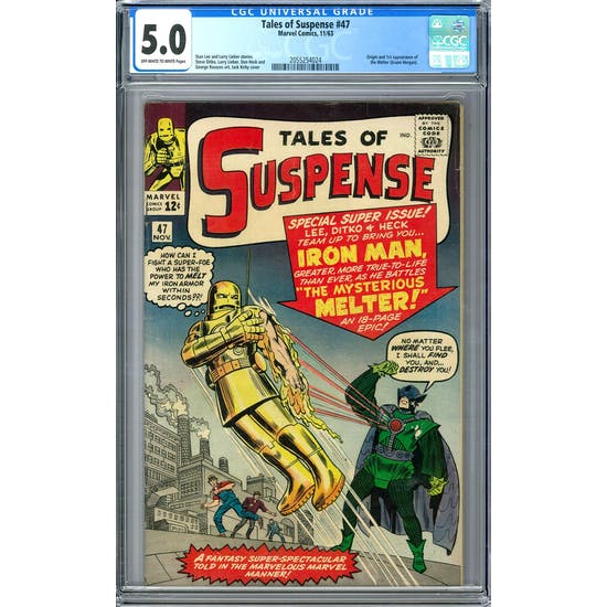 Tales of Suspense #47 CGC 5.0 (OW-W) *2055254024*